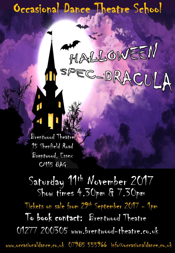 Halloween Spec-dracula | Occasional Dance Theatre School | Brentwood Theatre