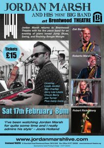Jordan Marsh and his Band at Brentwood Theatre | Brentwood Theatre