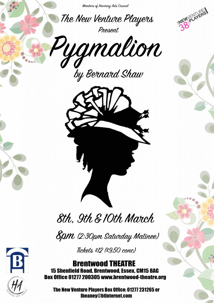 Pygmalion | New Venture Players | Brentwood Theatre